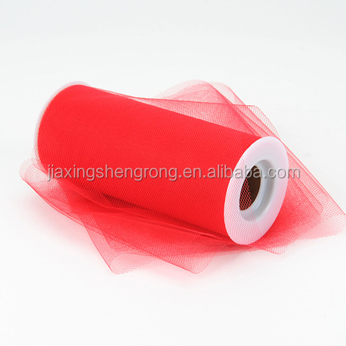 red color tutu applique tulle fabric