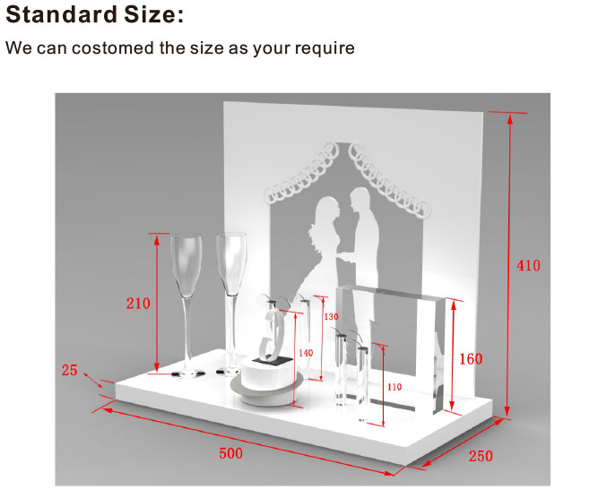 high end elegant acrylic jewelry display stand sets