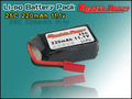220mAh 11.1V 25C Lipo Battery for Model Aircraft