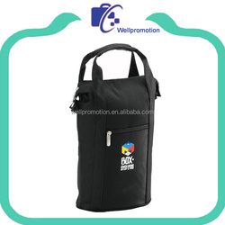 Double wine tote bottle cooler bag