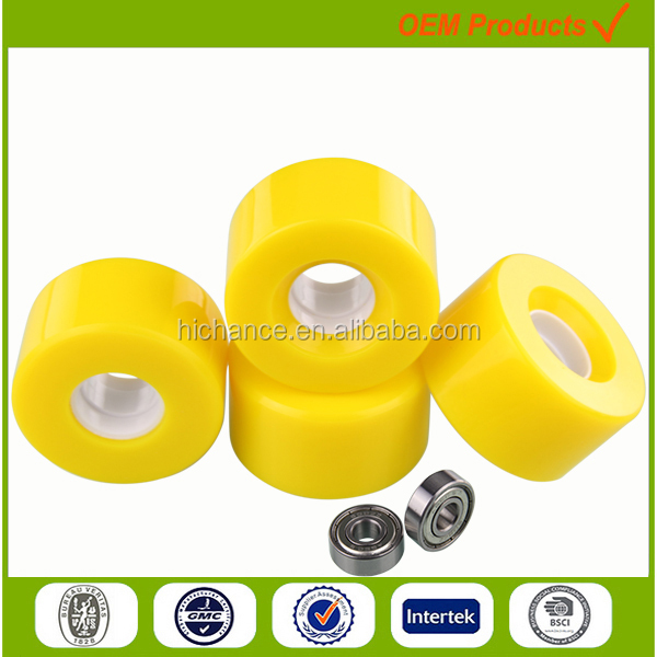 mountain board wheels PU snake board wheels for with Carbon steel bearing
