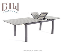Outdoor Furniture Patio Polywood Aluminum Dining Table Extension Table