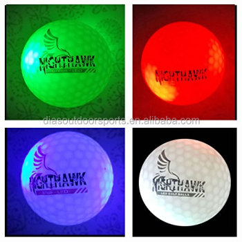 Supply custom logo LED Golf balls Glowing in dark at Night