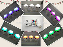 one by one wireless 7 color changing bluetooth speaker smart e27 led bulb with music remote