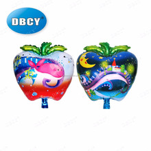 Factory supply 47.5*54cm aluminium foil apple shaped fruit balloon