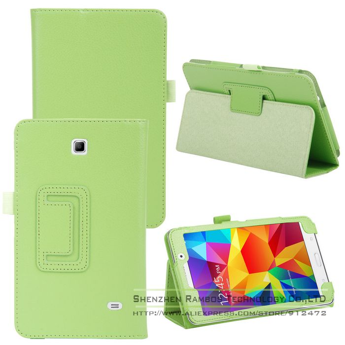 Ultra Slim PU Leather Folio Stand Tablet e-Book Cases Cover for Samsung Galaxy Tab 4 7.0 T230 with Stylus Holder