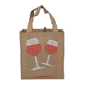 Creative eco friendly wine shop non woven shopping bag with handle extend to bottom