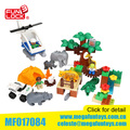 Wholesale Toy From China 68pcs Zoo Set Duplo Blocks Plastic Construction Toy