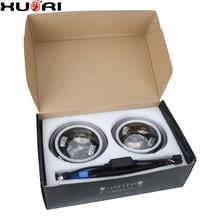 "Newest 7"" round Led Headlight 7 Inch high low beam Projector Daymaker Headlights DRL / RGB halo For car,offroad,suv,stv"