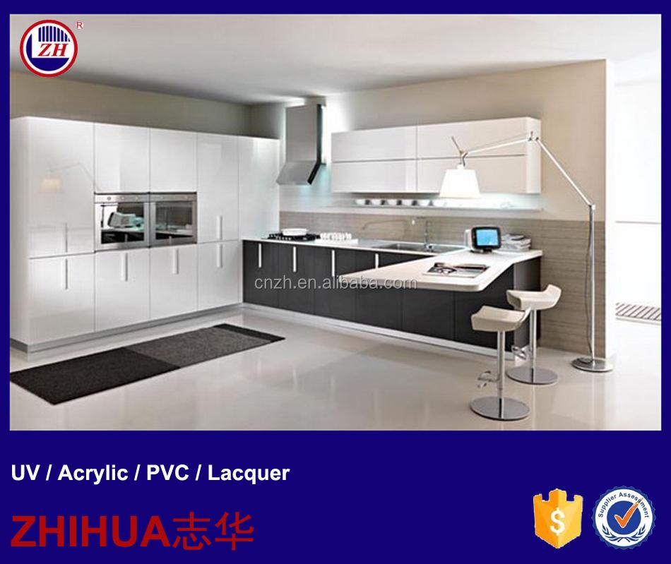 Buy Express Modular Kitchen Cabinets In High Gloss Finish: Modern High Gloss Uv Acrylic Lacquer Mdf Kitchen Cabinet