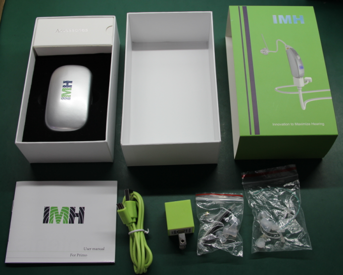 Rechargeable BTE hearing aid from American brand IMH