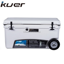 Kuer Cheap 70 QT Rotomolded Cooler Box with Wheel for Sale