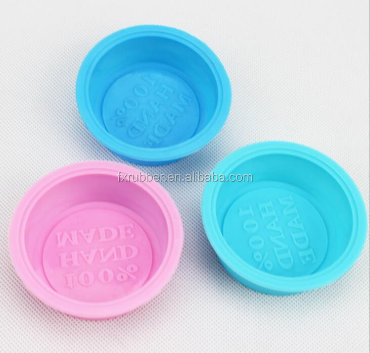 wholesale 7*2.5cm100% handmade words shape single DIY round silicone soap <strong>mould</strong>