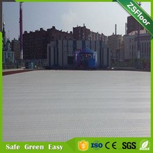 Plastic sports floor cover for tents and party, outside sports