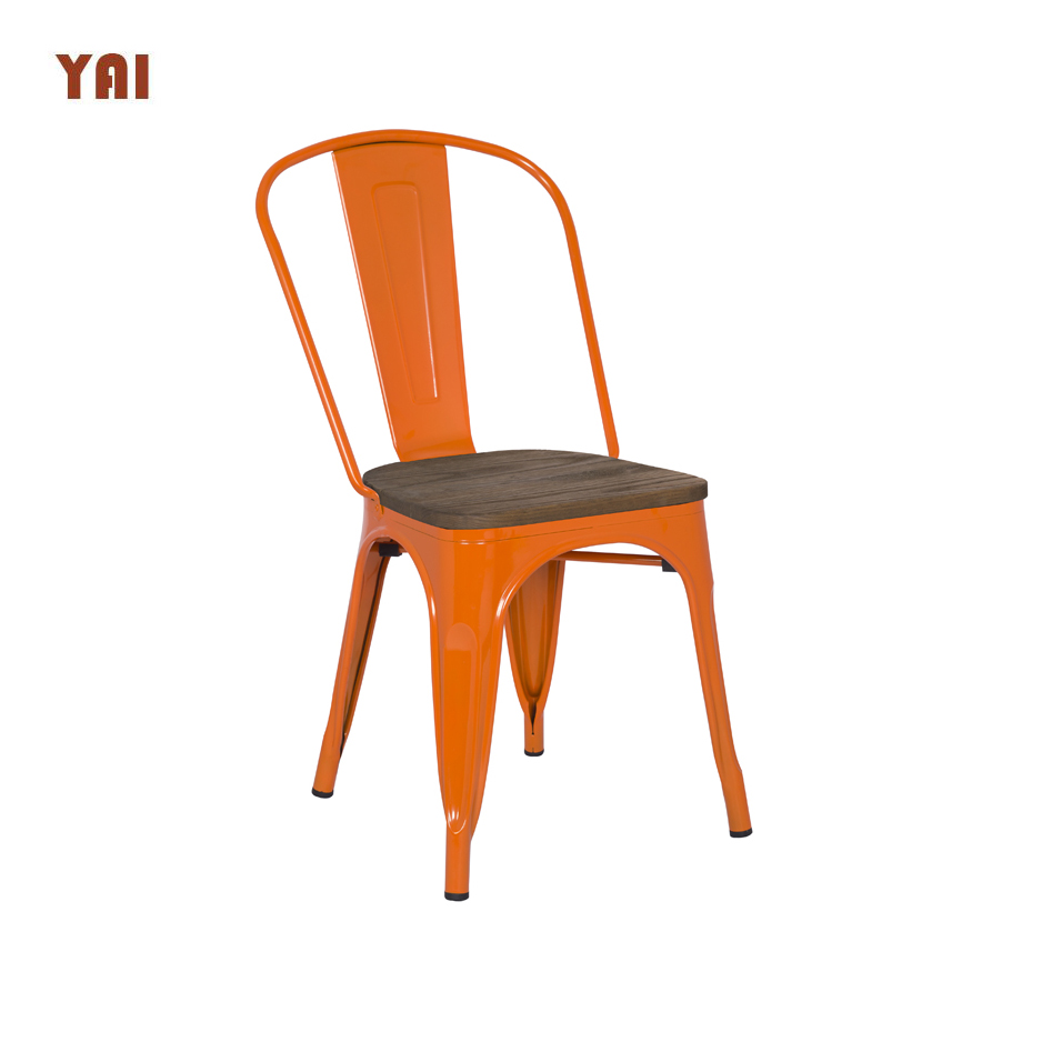 Cheap durable white french dining room furniture in bistro wood chair