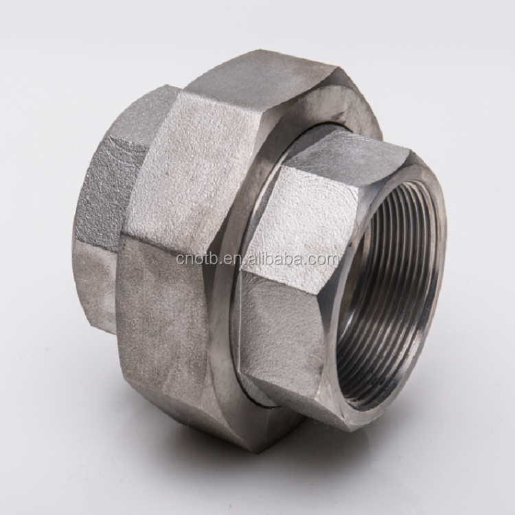 npt male thread stainless steel pipe fittings union connector