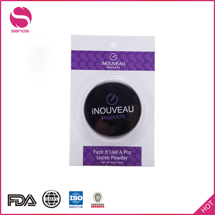 Senos Buying Direct From China OEM Size Round Face Loose Powder With Brush