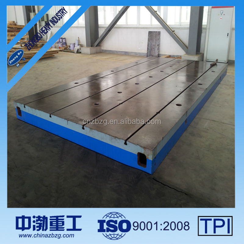 Factory sale directly T-slot table cast iron prices per kg, cast iron surface plate