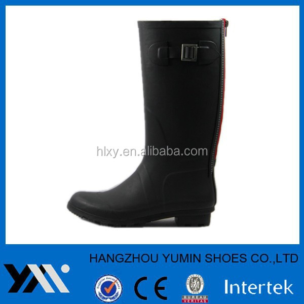 shiny black sex women knee rubber rain boots