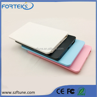 Ultrathin Polymer Plastic Portable Power Bank Charger For Mobile Phone