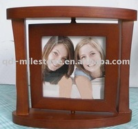 wooden rotatable photo frames