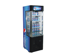 132L Glass Door Display Freezer Open Air Pepsi Displsy Refrigerator for Shop Supermarket