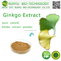 Best price 100% Natural Ginkgo Biloba Extract, Ginkgo Biloba Leaf Extract, Gingko Biloba L.