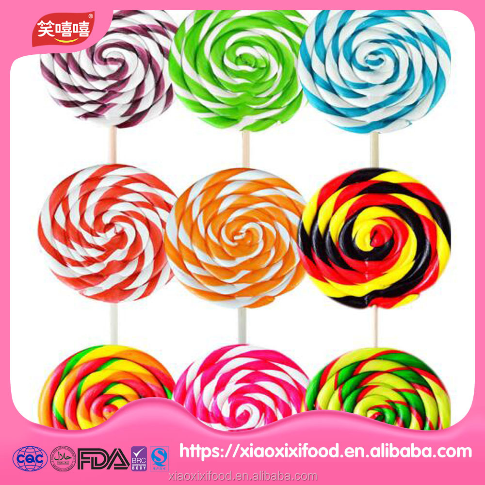 Brazil Colorful Swirl Lollipop Candy Wholesale