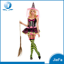 Carnival Sexy Colorful Witch Dress Halloween Costume Design A Halloween Costume Online