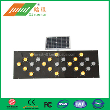 Dangerous road warning led traffic arrow board