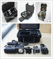 Anti-shock protective hard plastic tool case with foam for outdoor use