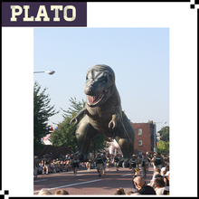 60' giant replica dragon animal, outdoor advertising inflatable dinosaur parade balloon