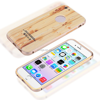 China cheap Metal Bumper Wood Cover Back Case For iPhone 5/ 6/ 6 Plus New Style Wooden Case For iPhone 6