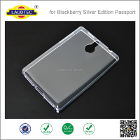 Glossy TPU Gel Case for BlackBerry Passport Silver Edition Cover + Screen Protector