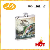 Hot sale beautiful sex russia girls hip flask gift set