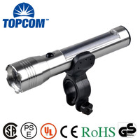 New Type Rechargeable Front Bicycle Flashlight Powerful Solar Energy Bike Light