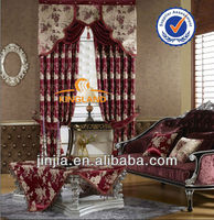 Turkish yarn dyed hotel curtain polyester jacquard blackout curtain fabric