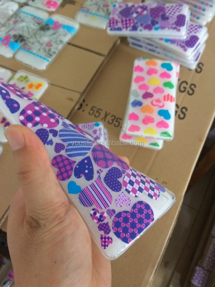 Printed Drop Of Glue 3D Clear Soft Silicon TPU Gel Phone Case Cover for Nokia
