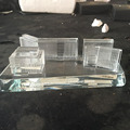 Fashional crystal glass building model for promotion gift