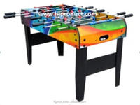 Colorful printing 4ft MDF table football kicker / baby foot soccer game table