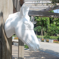 Wall decor animal head resin white horse