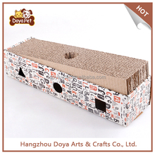 Pet Toy Product Corrugated indoor Cat House Cardboard Cat Scratcher