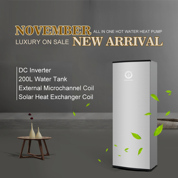 200L Heat Recovery Solar Energy Water Heater Assisted Hot Water Heater DC Inverter Heat Pump