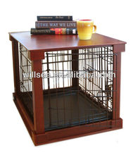 DC-1001,Wooden Dog crate with wood cover,Dog cage with wooden cover