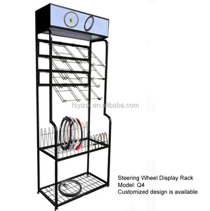 car steering wheel cover sample display rack/display stand