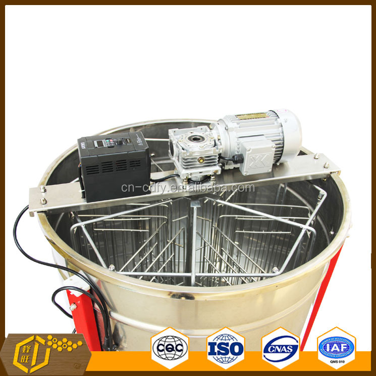 Hot Sale 6 frames reversible electrical honey extractor/honey separator