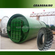 waste tyre pyrolysis plant with high oil yield 45%