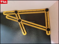 Four sided Multi Angle ABS Ruler Measures All Angles Template Tools foldable adjustable square ruler