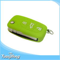 OEM unique FDA grade silicone material made Audi car key shell case 3D colorful