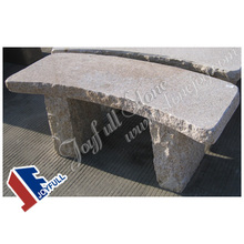 Granite Curved Park Bench